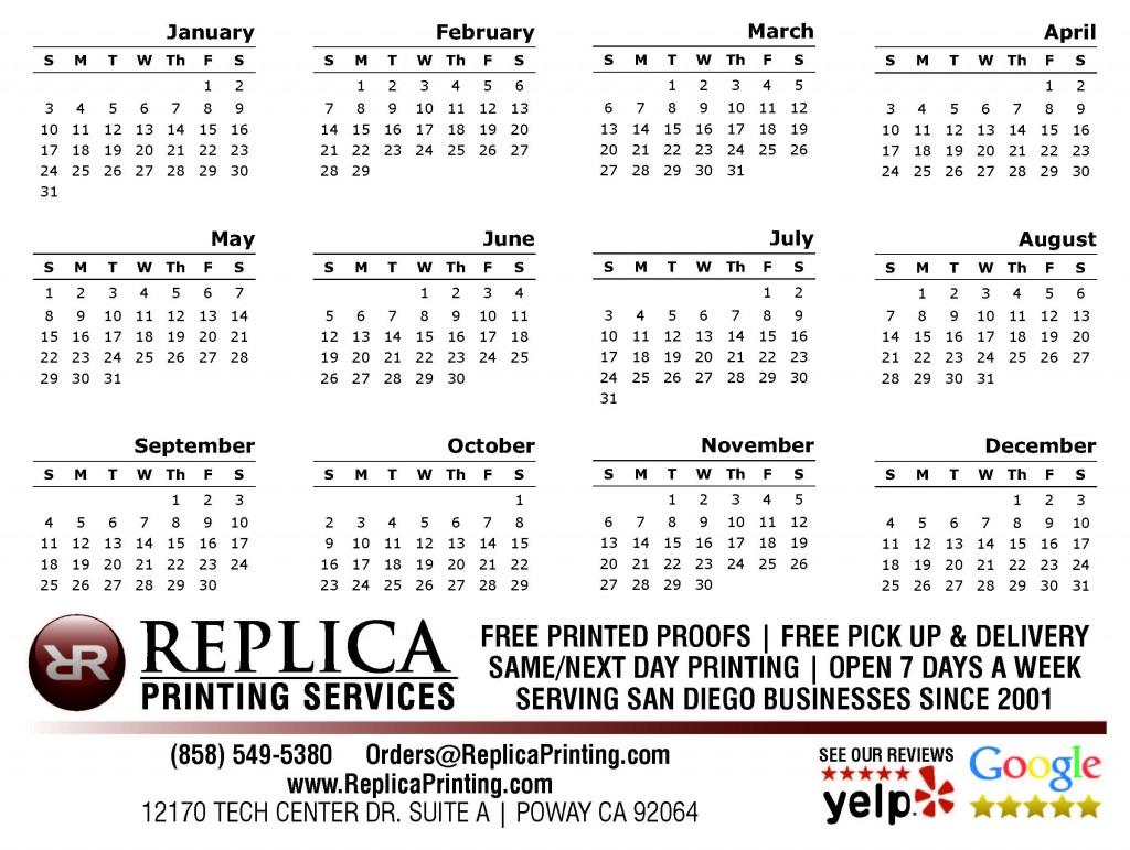 2016-calendar with no image