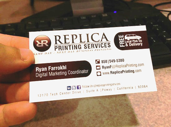 The printing process of a business card holdingcard colourmoves