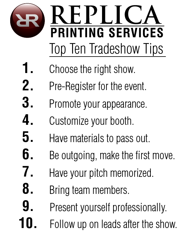 Top Ten Tradeshow Tips