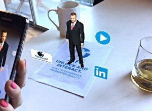 augmented reality application with traditional business cards.